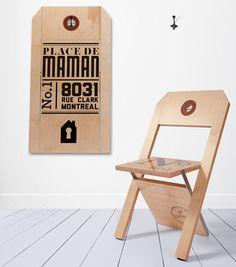 chaise-etiquette-pliable-01 Je suis super fan de cette chaise/tag déco!!