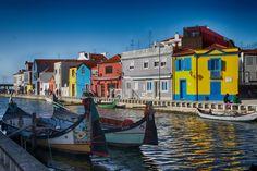 #aveiro #colorful houses #portugal 4k