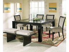 7pc Movado Dining Room Table Set http://www.maxfurniture.com/dining/dining-sets/7pc-movado-dining-room-set-by-steve-silver.html