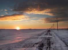 Sunset in Grand Forks, ND. You will never see skies like ND skies. A truly beautiful sight.