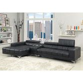 Found it at Wayfair - Derrikke Plush Sectional with Speaker Console