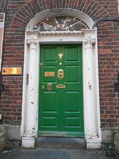 Georgian house front door
