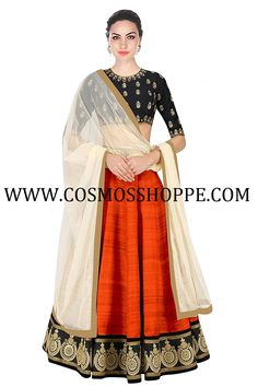 Shop this beautiful Lehenga / Half Saree exclusively at www.cosmosshoppe.com
