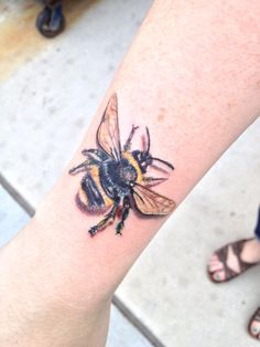 My newest bumblebee done by Scott Pizer at Mastermind Ink in Chicago