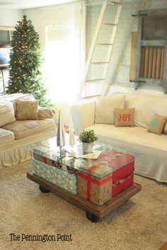 Make a Christmas Coffee Table! :: Hometalk The  Pennington Point - How Creative!