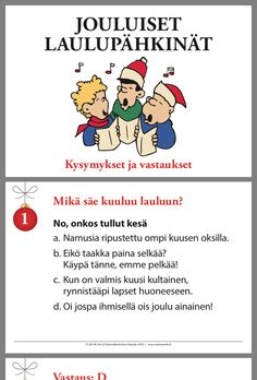 Advent Calenders, Christmas Games, Special Education, Finland, Therapy, Xmas, Classroom, Seasons, Bingo