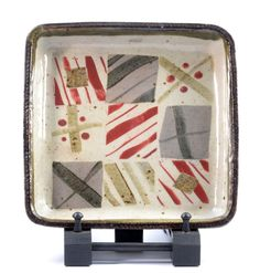 Lot 749 - JOHN MALTBY (born a square stoneware tray decorated with abstract pattern, impressed M mark,JOHN MALTBY (born a square stoneware tray decorated with abstract pattern, impressed M mark, 24 x (D) Ceramic Pots, Ceramic Decor, Ceramic Pottery, Plant Drawing, The Saleroom, Tray Decor, Ceramic Artists, Abstract Pattern, Trays