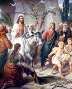 Gospel Of Mark, Jesus Christ Images, Sunday School Activities, Christian Images, Bible Love, Palm Sunday, Image Categories, Holy Week, Vintage Easter