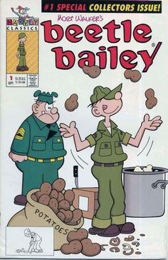 Beetle Bailey, of our favorite comics! Vintage Comic Books, Vintage Cartoon, Vintage Comics, Vintage Toys, Classic Comics, Classic Cartoons, Old Cartoons, Animated Cartoons, My Childhood Memories