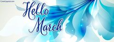 Hello March Facebook Cover coverlayout.com