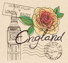 Passport to England | Urban Threads: Unique and Awesome Embroidery Designs