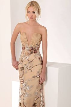 Evening gown, couture, evening dresses, formal and elegant Tony Chaaya   Couture   2013 collection
