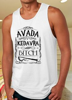 Clothing Avada Kedavra Bitch Harry Potter Tank Top for by NoewToms #Tees #Tee #Tshirt #Shirt #TankTop #Tank #HarryPotter #Movie #Avada #Kedavra #Bitch #Spells