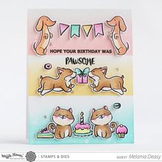 Pawsome Stamp Set – WaffleFlower.com