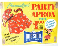 Vintage Poster Store Advertisement Sign Party Apron by NeatoKeen