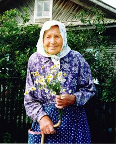 Very nice Ukrainian grandmother - kind warmth excudes from the face of this beautiful woman. . .