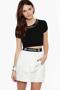 Vintage Chanel Chantal Silk Skirt