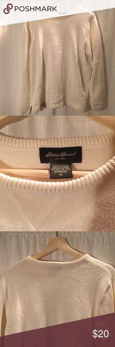 Eddie Bauer Sweater M lightly worn white long sleeve sweater Eddie Bauer Sweaters Crew & Scoop Necks