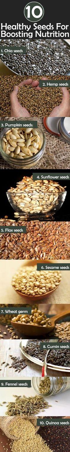 Top 10 Healthy Seeds For Boosting Nutrition | Medi Villas