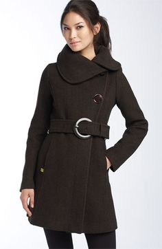 Soia & Kyo Asymmetrical Collar Coat