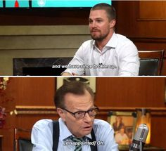 Stephen Amell on Larry King Now #Olicity #Arrow