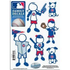 Chicago Cubs Small Family Decal Set by Siskiyou | Sports World Chicago $4.95  @Chicago Cubs #ChicagoCubs