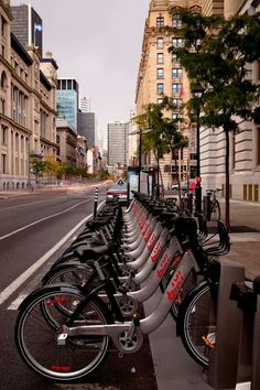 Bixi bikes in Montreal - public bike system Quebec Montreal, Montreal Ville, Quebec City, Montreal Travel, O Canada, Alberta Canada, Canada Travel, Calgary, Westminster