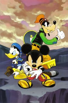 Shiro Amano, Art Works Kingdom Hearts, Kingdom Hearts, Goofy Goof, Mickey Mouse