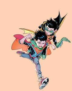 """damian and jon in super sons #4 """