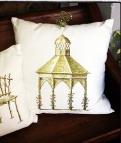 Pagoda pillows available at The French Market #thefrenchmarket