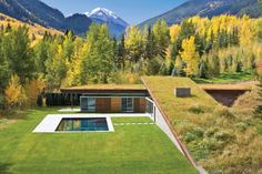 Looking to extend the idea of the 'Landscape House,' this 2,850 SF guest house in the Rocky Mountains integrates into and accentuates its mountain environmen...