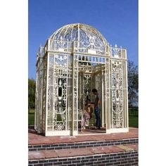 Metal Gazebos, Wrought Iron Gazebos http://gazebokings.com/luxury-metal-framed-garden-party-gazebos/