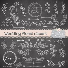 Rustic wedding clipart - Illustrations - 1