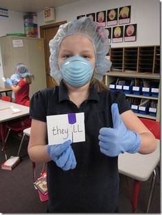 Contraction Surgery - memorable lesson - spelling words consisted of contractions. We practiced putting two words together as contractions by completing contraction surgery! (External Link no-longer works) Teaching Grammar, Teaching Language Arts, Classroom Language, Classroom Fun, Teaching Writing, Teaching Tools, Teaching English, Teaching Ideas, Future Classroom