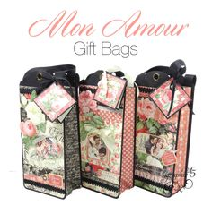 Try these Graphic 45 Mon Amour Gift Bags!