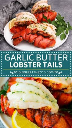 The BEST broiled lobster tails topped with garlic and herb butter. The BEST broiled lobster tails topped with garlic and herb butter. Easy Lobster Tail Recipe, Baked Lobster Tails, Broiled Lobster Tails Recipe, Stuffed Lobster Tail, Broil Lobster Tail, Cooking Lobster Tails, Crab Stuffed Shrimp, Lobster Dinner, Seafood Dinner