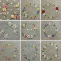 얼마 전 프랑스자수 핀봉을 부탁하신 지인께 처음 만든 프랑스자수 핀봉을 전해드렸는데 다행히도 선물 받... Baby Embroidery, Embroidery Flowers Pattern, Hand Embroidery Stitches, Embroidery Hoop Art, Hand Embroidery Designs, Ribbon Embroidery, Cross Stitch Embroidery, Embroidery For Beginners, Embroidery Techniques