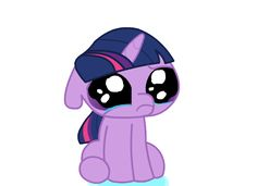 "Sweet ""puppy-eyes"" pony crying"