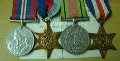 WWII Four Medal Set Lancashire Regiment Excellent Condition