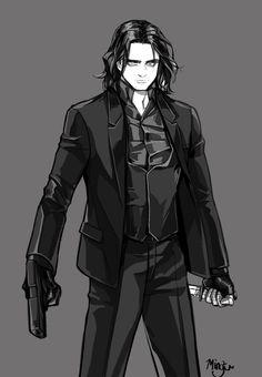 Kkyu: Black suit Ver. Bucky  http://mingku619.tumblr.com/post/93500110558/black-suit-ver-bucky