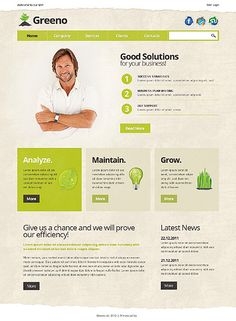 green and tan, textured web design