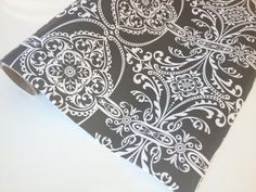 Grey Floral Paper 30 inches x  10 feet by PetalandForrest on Etsy, $8.00