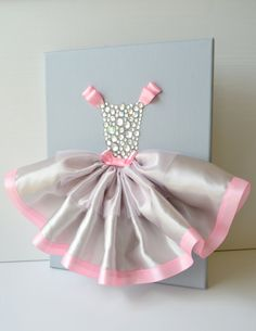 Ballerina Wall Art Canvas Ideas Are Gorgeous New Crafts, Creative Crafts, Diy And Crafts, Crafts For Kids, Arts And Crafts, Paper Crafts, Princess Wall Art, Ballerina Tutu, Dress Card