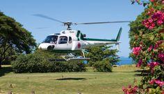 Vomo Fijian Resort, Helicopter arrival via Island Hoppers.