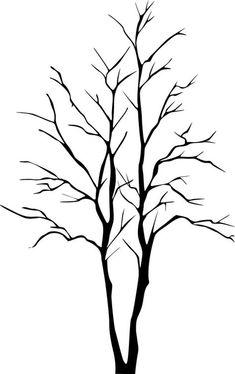 Modèle d'arbre a photocopier sur papier bleu pour le bricolage impression au coton-tige
