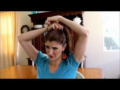 Video of 2 quick & easy messy buns.