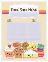 free printable bake sale sign