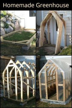 Homemade Greenhouse It may take a little bit of work but your effort will give you your very own homemade greenhouse! The post Homemade Greenhouse appeared first on Garten. Build A Greenhouse, Greenhouse Gardening, Greenhouse Ideas, Greenhouse Wedding, Cheap Greenhouse, Diy Small Greenhouse, Winter Greenhouse, Porch Greenhouse, Underground Greenhouse