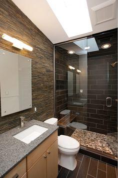 Modern Bathroom Shower Tile Ideas: Contemporary Spa Like Bath Remodel With Steam Shower Condo Bathroom, Spa Like Bathroom, Bathroom Photos, Bathroom Renos, Small Bathroom, Master Bathroom, Bathroom Ideas, Bad Inspiration, Bathroom Inspiration