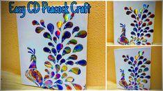 2020 Latest CD Craft Ideas - Waste CD / DVD Peacock WallHanging Craft #b... Old Cd Crafts, Diy Crafts Hacks, Arts And Crafts, Peacock Crafts, Peacock Art, Wall Hanging Crafts, Hanging Art, Cd Project, Cd Art